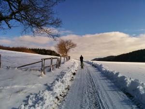 Schneespaziergang zu dritt